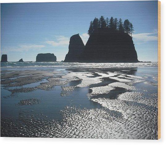 Seastacks At Second Beach La Push Wood Print