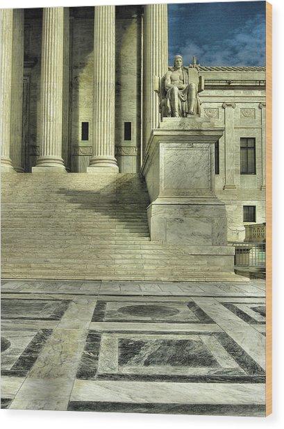 Seated Figure And Columns I Wood Print