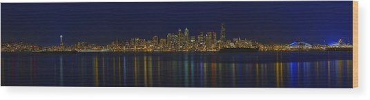 Seattle Moody Blues Wood Print