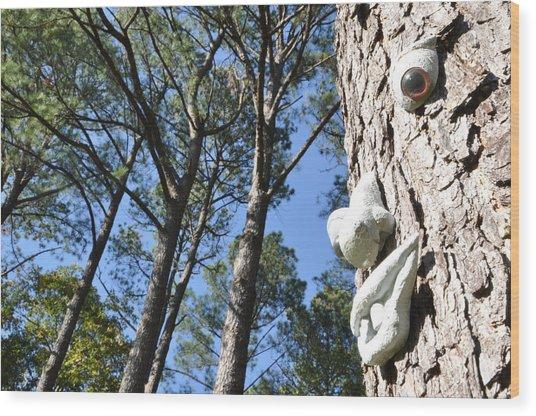 See Da Tree Wood Print