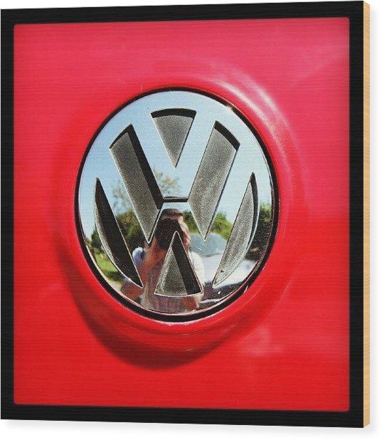See Me? #car #badge #carbadge Wood Print