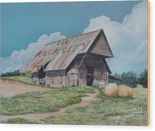 See Rock City Sold  Wood Print