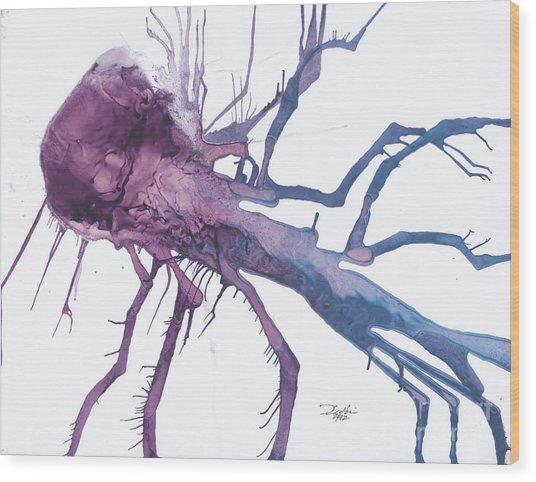 Seedburst 10 Wood Print by David W Coffin