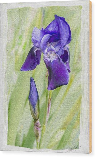 Seeing Purple Wood Print