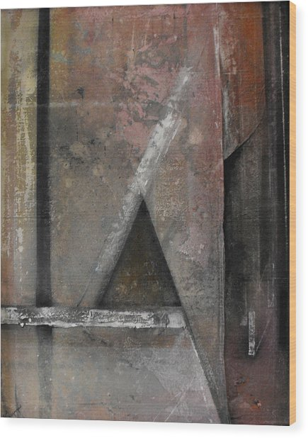 Seem  Seam Wood Print by Ralph Levesque
