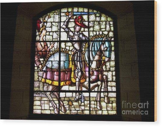 Segovia Alcazar Glass Wood Print by Scotts Scapes