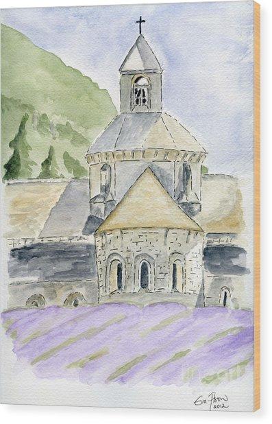 Senanque Abbey Provence Wood Print