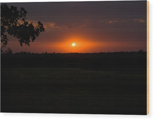 September Sunset Wood Print