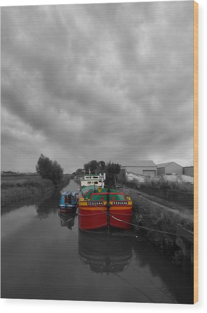 Sequana Beverley Canal Wood Print