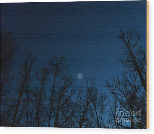 Serenity Blue Wood Print