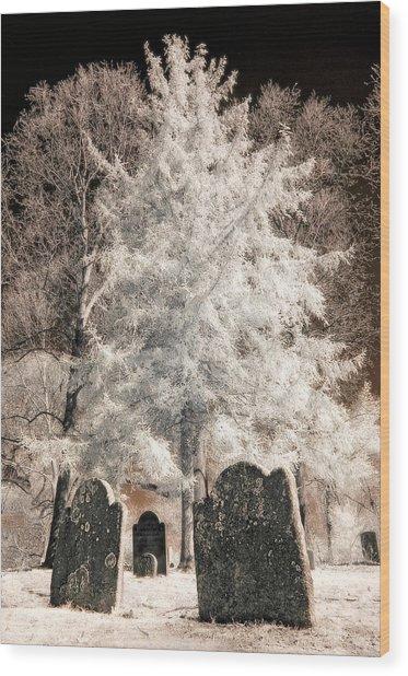 Setauket Graveyard Wood Print
