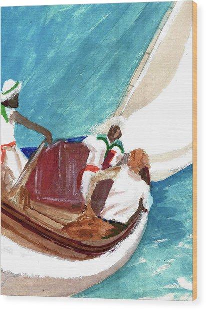 Setting Sail Wood Print by Harry Richards