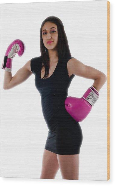 Sexy Boxer Wood Print
