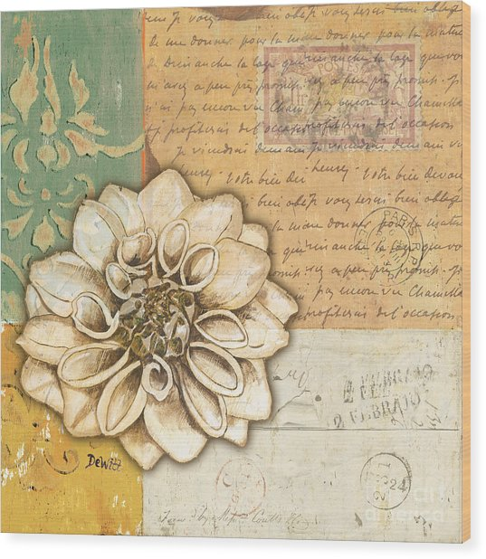 Shabby Chic Floral 1 Wood Print