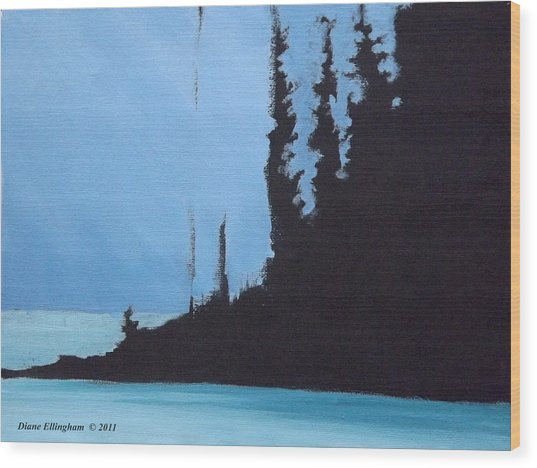 Shadow Island Wood Print