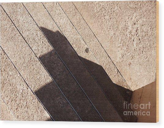 Shadow Stair Wood Print
