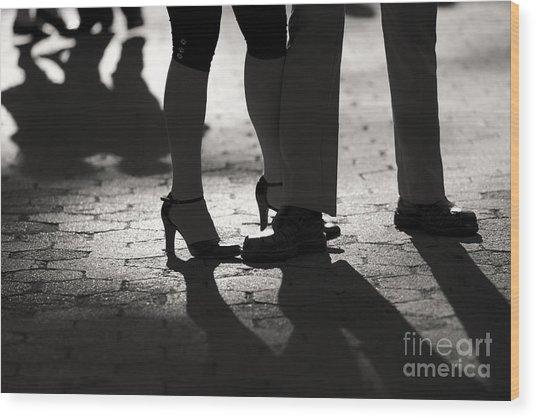 Shadows Of Tango Wood Print