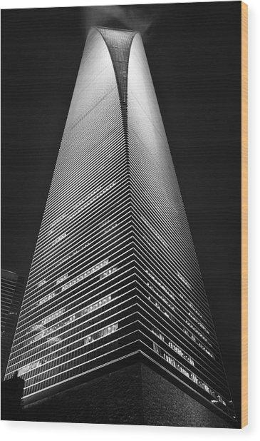 Shanghai World Financial Center Wood Print