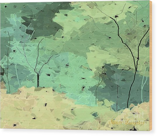 Shattered Forest Wood Print
