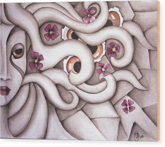 She Listened At Last Wood Print by Simona  Mereu