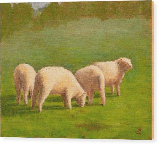 Sheep Shapes Wood Print