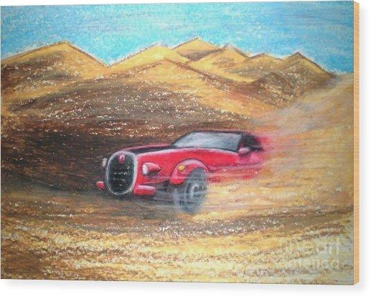Sheikhs Dirt Racer Wood Print by C Ballal