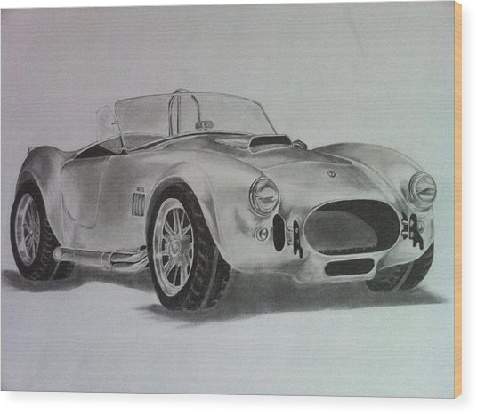 Shelby Cobra Wood Print by Aaron Mayfield