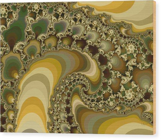 Shells On Sand II Wood Print