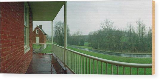 Sherrick House Wood Print by Jan W Faul