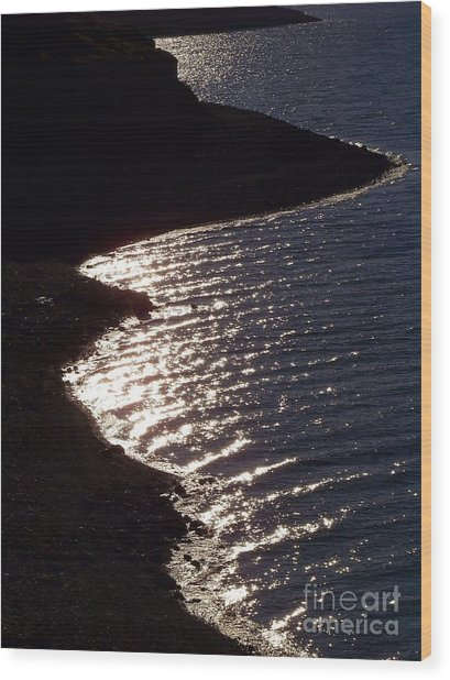 Shining Shoreline Wood Print