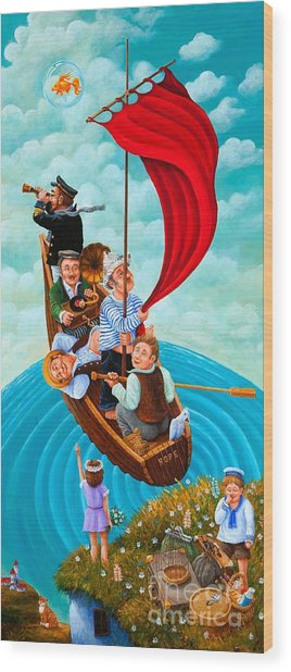 Ship Of Fools Wood Print by Igor Postash