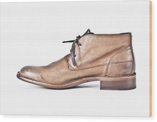 Shoe Wood Print by Chavalit Kamolthamanon