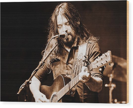Shooter Jennings - Blurring The Lines Wood Print