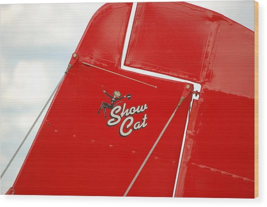 Show Cat Wood Print