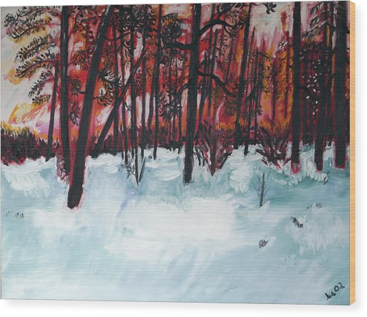 Show Low Sunset Wood Print