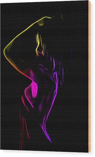 Shower Girl Wood Print