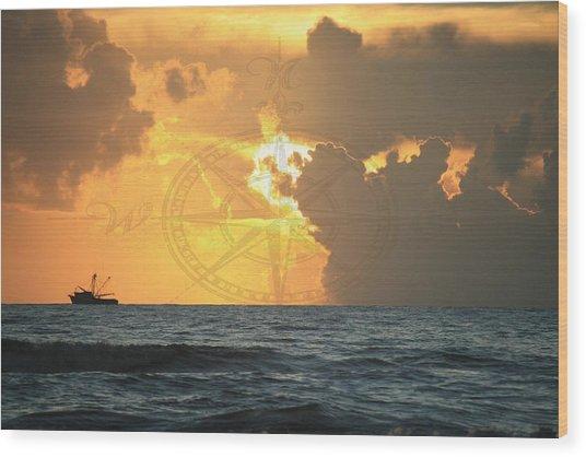 Shrimp Boast Sunrise II Wood Print
