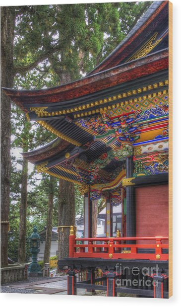 Shrine-4 Wood Print