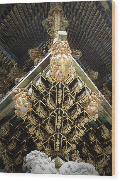 Shrine Roof Detail Wood Print