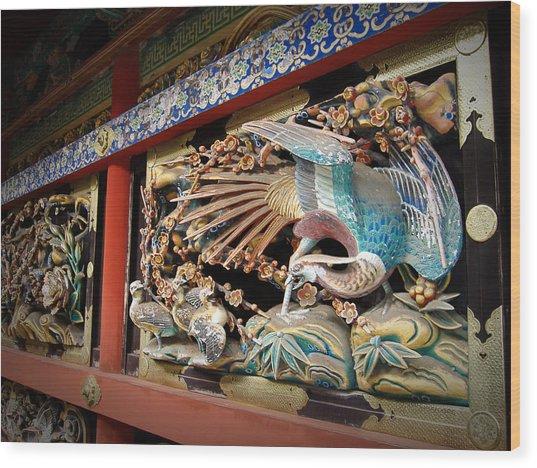 Shrine Wall Ornament Wood Print