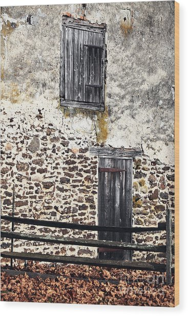 Side Entrance Wood Print by John Rizzuto