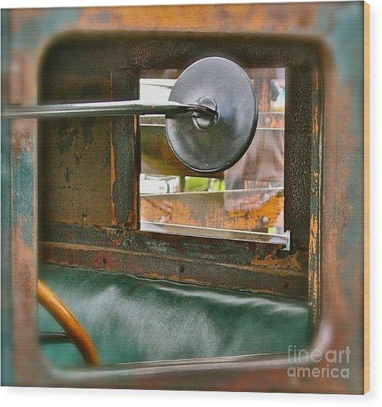 Side View Window Wood Print by David  Hubbs