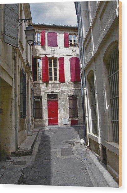 Sidestreet In Arles Wood Print by David Ritsema