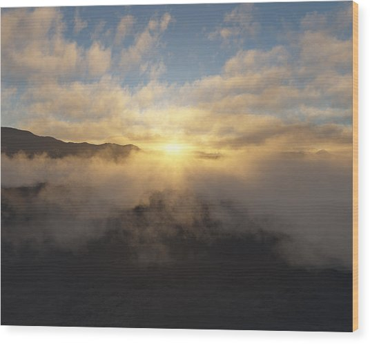 Sierra Sunrise Wood Print