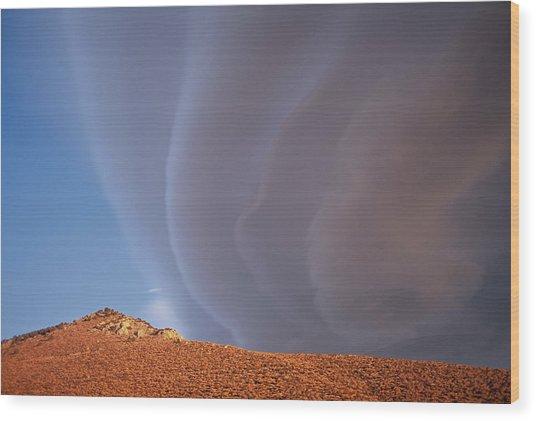 Sierra Wave I Wood Print