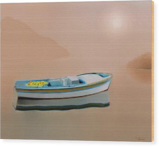 Silent Sea Wood Print