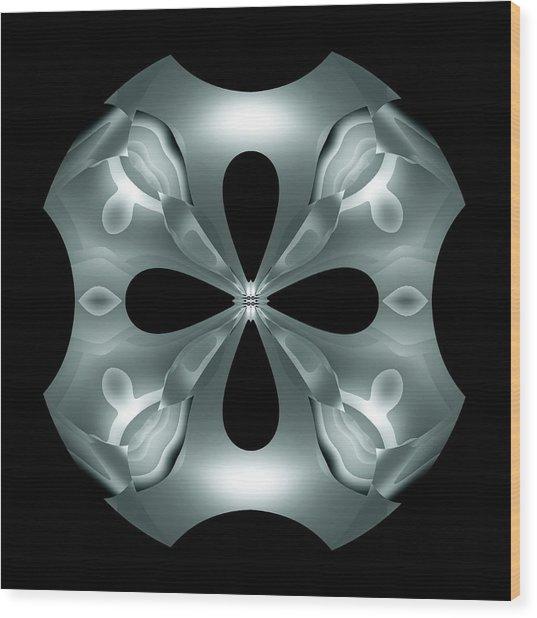 Silver Flower Wood Print