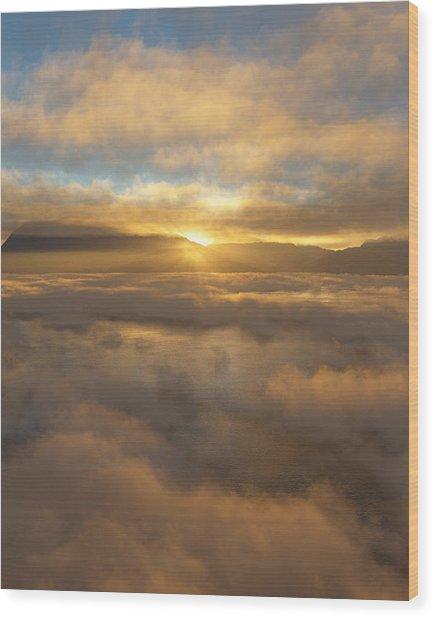 Silver Lake Sunrise Wood Print