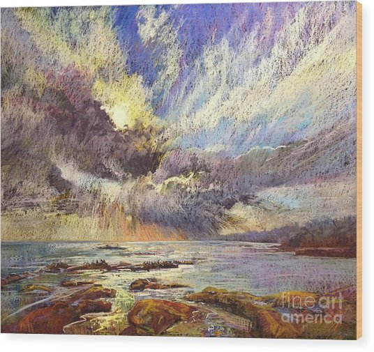 Silver Lining Wood Print by Pamela Pretty