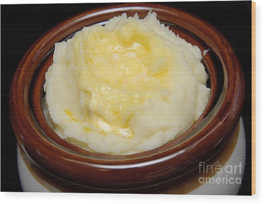 Simply Mashed Potatoes Wood Print